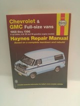 Haynes Repair Manual: Chevrolet and GMC Full-Size Vans 1968 Thru 1996 by... - $17.81