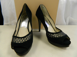 Michael Kors New Display Model Womens Zamara Open Toe Black Heels 10 M S... - $78.21