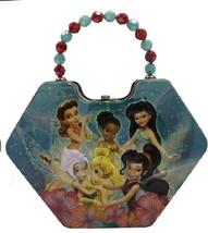 Disney's Tinker Bell & Fairies Girls Diamond Purse Carry All Tin Tote St... - $9.74