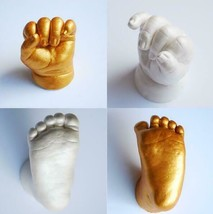 3D Hand/Foot Print Mold for Baby Powder Plaster Casting Kit Baby Growth ... - $11.38+