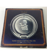 Goebel 1981 Annual Crystal Glass Plate, Fourth Edition - $12.86