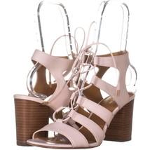 COACH Larissa Lace Up Gladiator Sandals 322, Chalk, 9.5 US - $70.07