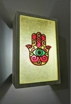 Hamsa hand resin lamp retro lampshade epoxy lamp wall sconce light 003002 - $259.00