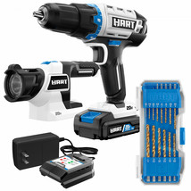 Cordless Drill 1/2-inch 20-Volt LED Light 14-Piece Accessory Lithium-Ion... - $127.01