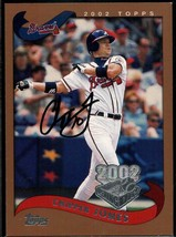 Chipper Jones Signed Autographed 2002 Topps Opening Day Baseball Card - ... - $29.99
