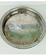 VINTAGE ROGERS AND BROS SILVER PLATED ROUND SERVING TRAY #1771G - $19.79