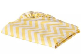 Circo Yellow Chevron White Fitted Crib Sheet New Baby Bedding - $15.29