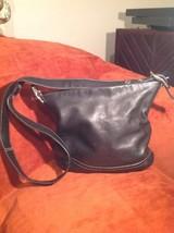 COACH 1414 SOHO SLIM BLACK GLOVE LEATHER DUFFLE  CROSSSBODY SHOULDER BAG... - $69.29