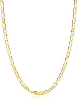 Gold over Sterling Silver Choker Necklace Mariner Chain 13'-15' - $48.39
