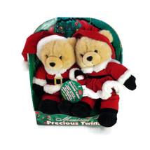 DanDee Musical Precious Twins Plush Santa Bears - $39.59