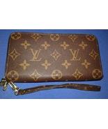 Louis Vuitton LV Double Zipper Wallet Wristlet ... - $99.00
