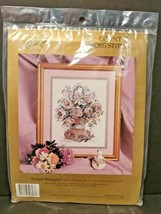 Something Special Counted Cross Stitch Kit Basket Bouquet 0627 M Wyatt Flowers - $16.65