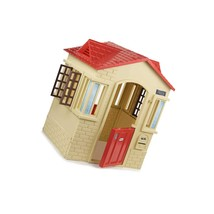 Cape Cottage Playhouse With Working Doors, Windows, And Shutters - Tan - $196.99