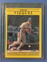 1991 Fleer Omar Vizquel Baseball Card #464 - $1.49