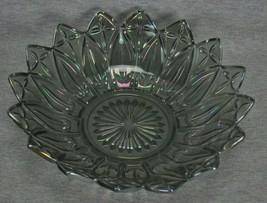 Smoke Gray Carnival Glass Bowl - $22.50