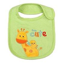 "Lovely Giraffe Mama Cotton/PVC Adjustable Waterproof Baby Bib Pocket Bib 612"""