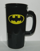 DC Comics Batman Chest Bat Logo Black 22 oz Plastic Stein, NEW UNUSED - $11.64