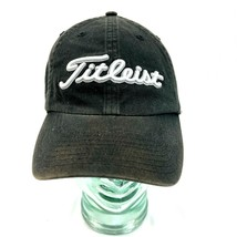 Titleist Black Fitted Golf Hat Mens M/L Used Embroidered - $11.87