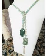 Amazonite Lariat Necklace - $50.00