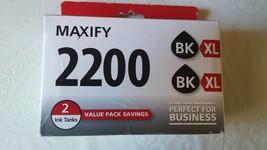 Genuine Canon Maxify 2200 / PGI-2200 XL BK Black Ink Cartridges, Twin Pack - $68.95