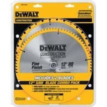 DeWalt  DW3128P5  - 12 in. Miter Saw Blade 32-Teeth and 80-Teeth - 2-Pack - $69.25