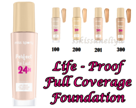 Miss Sporty Perfect to Last 24H Foundation Full Coverage 30 ml  - $8.49