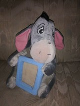 """Disney Eeyore Plush 10"""" With Photo Picture Frame 3.5x3"""" Gray Detachable Tail - $19.79"""