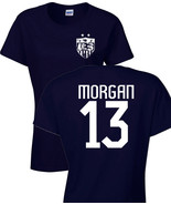 ALEX MORGAN United States Women's Soccer Team 2 Sides LADIES Tee Shirt 1182 - $8.86+