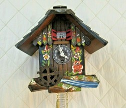 Cuckoo Clock Edelweiss Mapsa Switzerland Vintage Music Chalet Style Wooden - $67.72