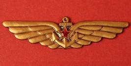 Soviet Naval Air Force Wings Badge Russian Navy Aircraft Carrier Pilot Original - $14.99