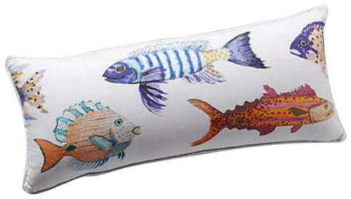 Primary image for Anthropologie Pillow Large Fish Nautical Fisherman Mom Shower Gift Aquatic Charm