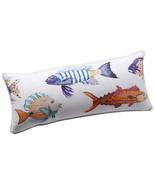 Anthropologie Pillow Large Fish Nautical Fisherman Mom Shower Gift Aquat... - $101.15