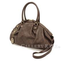 GUCCI Shoulder Bag Sukey Guccissima Leather Dark Brown 223974 Authentic ... - $669.03