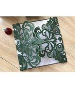 50pcs Paper Blackish Green laser cut wedding invitations cards,Birthday ... - $59.20