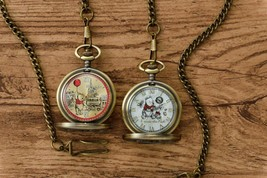 Disney Christopher Robin Winnie The Pooh movie Pocket watch Set of 2 201... - $60.49