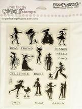 Stampendous Sassy Silhouettes Stamp Set #SCC065 - $6.99