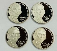 4    2016 S  Proof Jefferson Nickel 5C   4 Coins   # N2 - $9.75