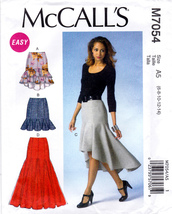 McCall's M7054 Misses Sewing Pattern Skirts Easy Sew Sizes 6-8-10-12-14 - $6.45