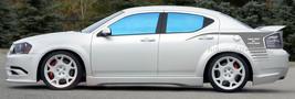 2008-2013 Dodge Avenger Strobe quarter panel hockey stripe decal decal g... - $69.29+