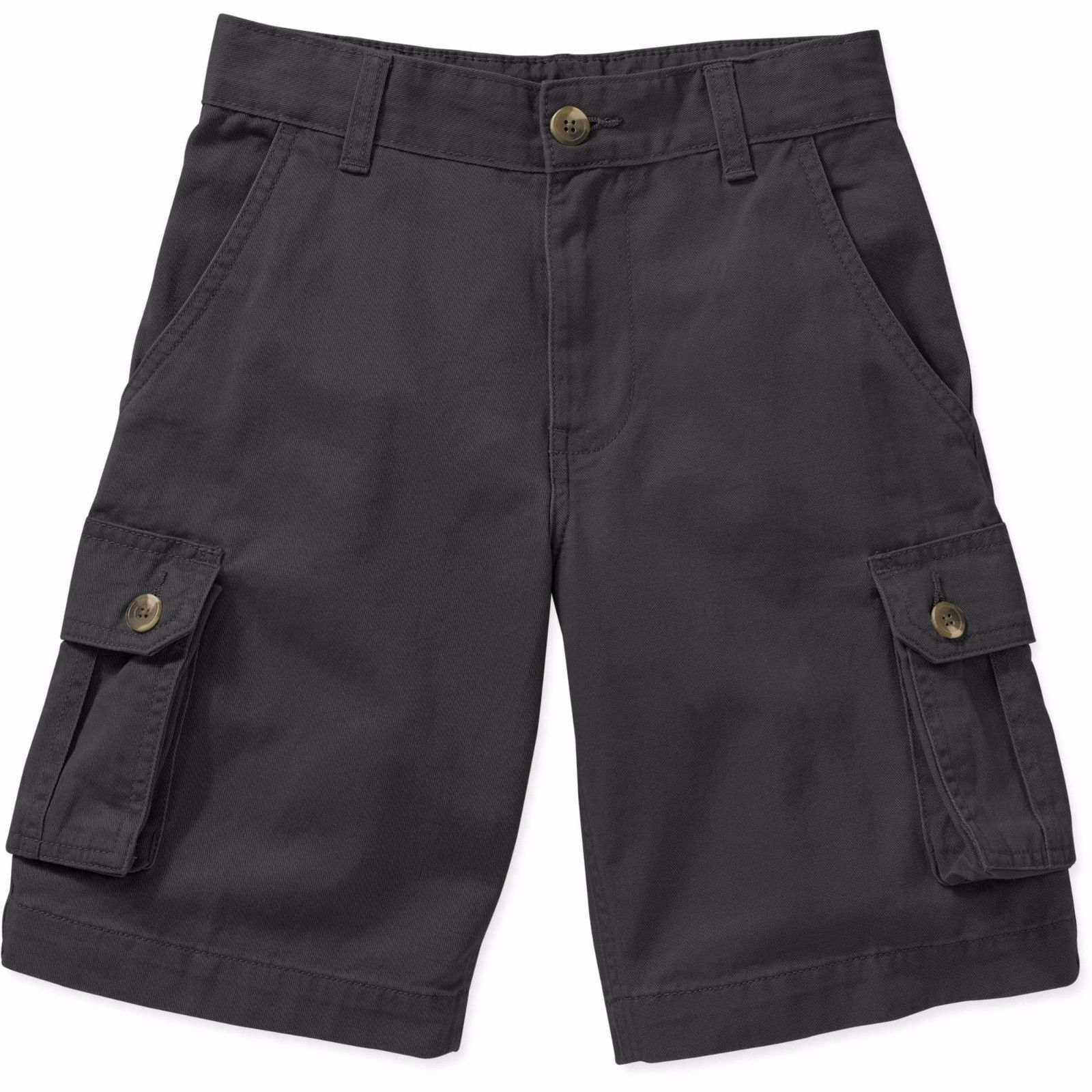 6ddc95b34 Faded Glory Boys Solid Cargo Shorts Black Soot Size 5 NEW - $12.86