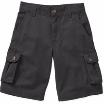 Faded Glory Boys Solid Cargo Shorts Black Soot Size 5 NEW - $12.86