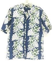 Royal Creations Hawaiian Shirt Men's Sz Large Blue Floral (y1/ep) - $22.00