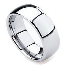 Mens Wedding Band 8mm White Tungsten Ring High ... - $42.97