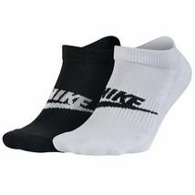 Nike Unisex 2PK Sportswear Futura No-Show Socks L 8-12 SX5481-901 - $19.99