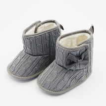 Warm Baby Boots Gray Color Winter Infant Soft Boots G156 - £17.55 GBP