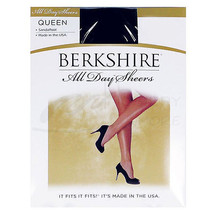 New Berkshire Queen All Day Sheer Non-Control Top Pantyhose - Sandalfoot... - $7.99
