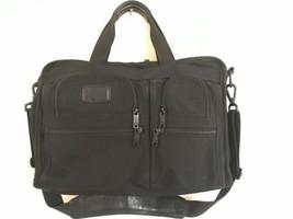 TUMI Alpha 16 inch Expandable Laptop Briefcase Nylon Messenger Bag Black - $40.19