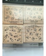 Stampin' UP!  Lot Of 4 Stamps   For Baby, Thank You, Congratulations,  New - $7.67