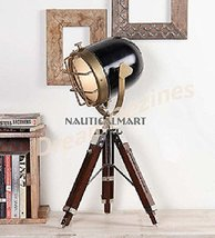 Nautical Spot Search Light Lamp Tripod Stand - Spot Table Lamp Collectible Decor - $117.81