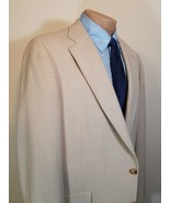 CHAPS BY RALPH LAUREN M HYMAN SON BIG GUYS MENS BLAZER 2-BUTTON 45L BEIG... - $39.19